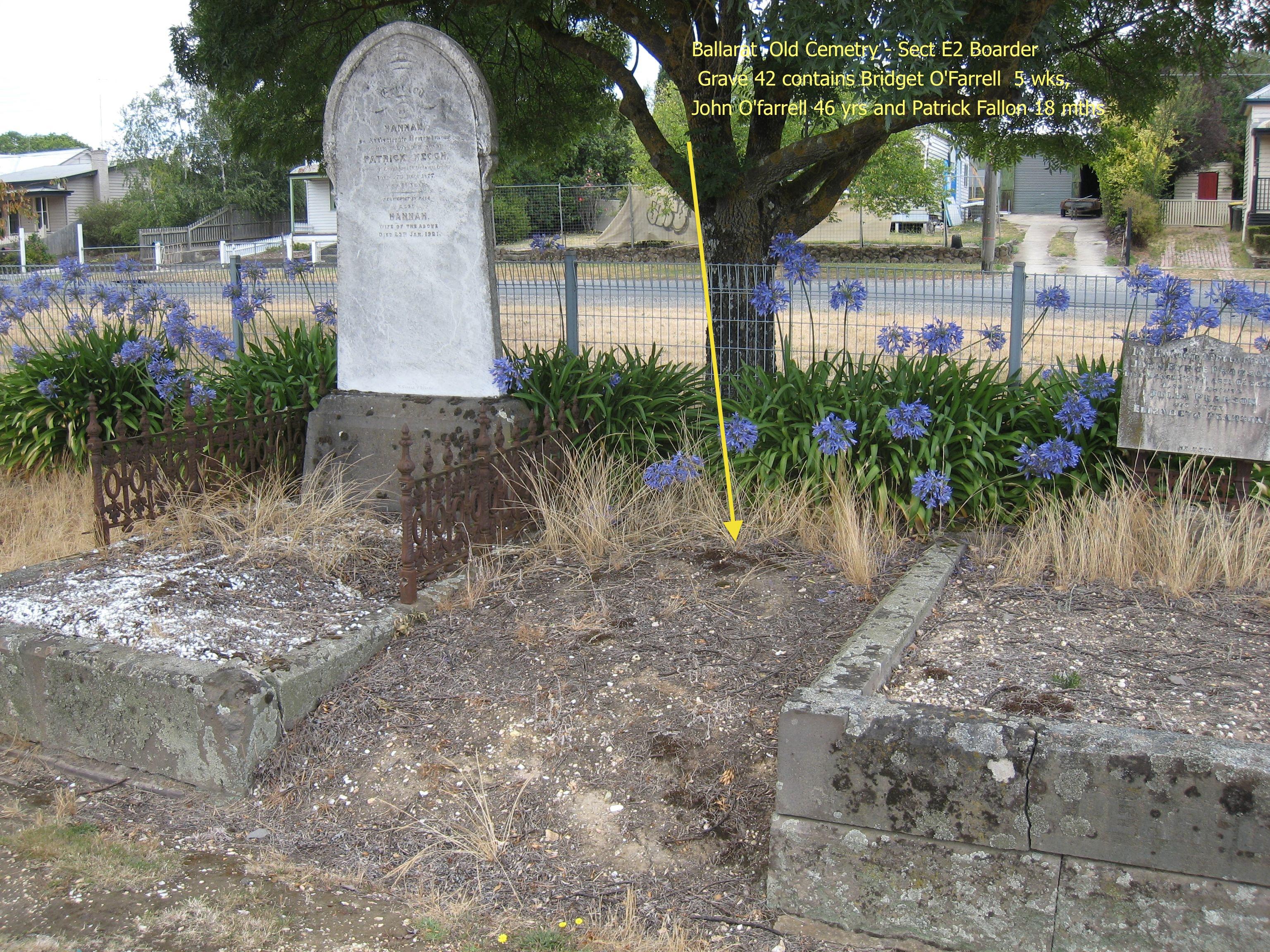 John O'Farrell Ballarat grave site